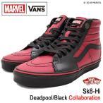 バンズ VANS スニーカー メンズ 男性用 マーベル スケートハイ Deadpool/Black コラボ(VN0A38GEUBJ VANS×MARVEL Sk8-Hi デッドプール)
