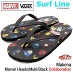バンズ VANS ビーチサンダル メンズ 男性用 マーベル マケナ Marvel Heads/Multi/Black(VN0A3MTLU1X MARVEL Makena Surf Line Avengers)