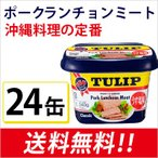 ポークTULIP(チューリップ) ポークランチョンミートうす塩味340g×24個 (エコパッケージ)沖縄土産 スパム SPAM おにぎらず