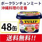 ポークTULIP(チューリップ) ポークランチョンミートうす塩味340g×48個 (エコパッケージ)沖縄土産 スパム SPAM おにぎらず