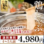 鶏しゃぶ鍋セット 4〜5人用 はかた一番どり とりしゃぶ鍋