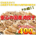 〔ワケあり〕安心の国産餃子400個 80人前(同梱・代引不可)