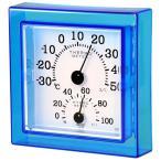 クレセル 温湿度計 壁掛け・卓上用 ブルー CR-12B(同梱・代引不可)