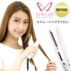 ヘアアイロン ストレート 海外対応 絹女 KINUJO W キヌージョワールド 海外兼用 DS100 ホワイト