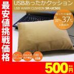 ホットクッション USB温熱クッション SunRuck(サンルック) USBあったかクッション アイボリー 腰当て用 腕用 PC用 カイロとして SR-UCS01