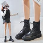 ブーツ レディース ショートブーツ ソックスブーツ トレンド マーチンブーツ 人気 編み上げ靴 モード アンクルブーツ シック