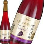 スパークリングワイン やや甘口 アルプス 信州巨峰スパークリング 500ml 日本 長野 ギフト プレゼント(4906251556326)
