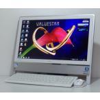中古 一体型 Windows7 地デジ NEC PC-VN370FS6B  20インチワイド液晶 Celeron B800 1.5GHz 1000GB 地デジ 無線LAN 即使用可