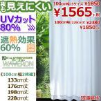 カーテン レース レースカーテン ミラー UVカット 2枚組 /UV80白100幅3サイズ/ 白 見えにくい