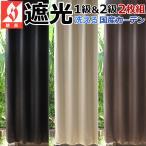 ショッピングカーテン カーテン 遮光 防炎 レザー調 100cm幅 150〜185cm丈 準オーダー2枚組 白黒茶