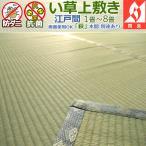 ショッピングい草 い草カーペット 上敷き 二畳 2畳 萩 江戸間 174×174cm