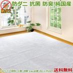 カーペット 6畳 六畳 ホットカーペット対応 ラグマット MLC白黒 261×352 抗菌 防臭 防ダニ カットパイル ホットカーペットカバー 送料無料/本州四国 寒さ対策
