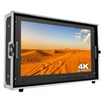 4K@60対応28インチ可搬型モニター 3GSDI,HDMI,タリー,DVI,VGA入力 アントンバウアーマウント付