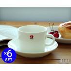 ショッピングイッタラ イッタラ ティーマ ホワイト 7253/7248 ティー/コーヒー(兼用)カップ&ソーサー 220ml 6個セット