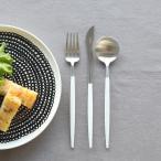クチポール(Cutipol) GOA ホワイト デザート3点セット(デザートナイフ・デザートフォーク・デザートスプーン)