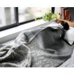 クリッパン KLIPPAN ×ミナ ペルホネン 225101 ウールシングルブランケット ハウスインザフォレスト 130×180cm グレー [クリスマスSALE]