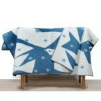 ショッピングブランケット クリッパン KLIPPAN ×ミナ ペルホネン 225503 TRIP/トリップ ウールシングルブランケット 130×180cm ブルー/ホワイト