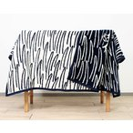 ショッピングブランケット クリッパン×ミナ ペルホネン 254701 2CATS コットンブランケット(シュニール織り) シングル 140×180cm ネイビーブルー