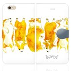 iPhone6s iphone 6s  手帳型 ケース カバー NoA model.35 コーギー ウェルシュ カーディガン ペンブローク かわいい 水彩 パステル グッズ