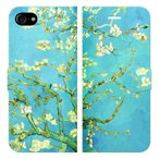 iPhone7 iPhone8 手帳型 ケース カバー ゴッホ 花咲くアーモンドの木 ゴッホ 絵画 名画 フィンセント ファン