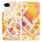 iPhone8iPhone7iPhone手帳型ケースカバーELEPHANT-ホワイトデザイナーズエスニックアジアンゾウ象アニマル