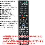 【在庫あり】 ソニー 本体付属リモコン RMT-B005J (148752112)の代替品 代替リモコン (991340664) BDレコーダー用 メーカー純正 SONY