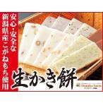 生かき餅 パック入り1袋300g バラエティ豊かな6種類×各4枚入り 寒餅 定評ある旨さ 安心・安全な新潟産こがねもち使用