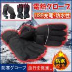 電熱グローブ ヒーターグローブ 防寒グローブ 電熱ウェア バイク 自転車 手袋 電熱手袋 冬 USB充電 滑り止め
