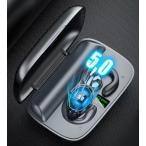 ワイヤレスイヤホン Bluetooth 5.0 骨伝導 ブルートゥースヘッドセット マイク内蔵 耳掛け型 ハンズフリー通話 両耳通話