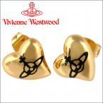 ショッピングウエストウッド ヴィヴィアンウエストウッド Vivienne Westwood ピアス ヴィヴィアン ハートスタッドピアス ゴールド×ブラック