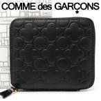 コムデギャルソン 二つ折り財布 COMME des GARCONS コンパクト財布 レディース メンズ ブラック SA210EB EMBOSSED BLACK