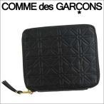 ショッピングギャルソン コムデギャルソン 二つ折り財布 COMME des GARCONS コンパクト財布 レディース メンズ ブラック SA210EA EMBOSSED BLACK