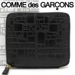 コムデギャルソン 二つ折り財布 COMME des GARCONS コンパクト財布 レディース メンズ ブラック SA2100EL EMBOSSED LOGOTYPE BLACK