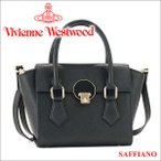 ショッピングWestwood ヴィヴィアンウエストウッド Vivienne Westwood バッグ ハンドバッグ ショルダーバッグ ブラック 131127 OPIO SAFFIANO BLACK