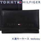 トミーヒルフィガー 6連キーケース TOMMY HILFIGER キーホルダー ブラック 31TL17X005 BLACK