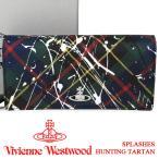 ヴィヴィアンウエストウッド 財布 ヴィヴィアン Vivienne Westwood 長財布 レディース メンズ チェック 51060025 SPLASHES HUNTING TARTAN