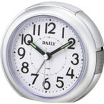 目覚まし時計 アラーム めざまし時計 クロック  デイリーRA21[8REA21DA19] シルバー シチズン[CITIZEN]  お取り寄せ 【30%OFF