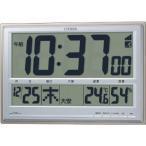 電波時計 置き時計 目覚まし時計 クロック カレンダー 温度計 湿度計 デジタル  パルデジットペール 8RZ111-019  シチズン CITIZEN