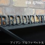 アイアンアルファベット 大 アンティーク調 ディスプレイ アルファベットサイン アイアン雑貨