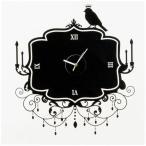 ウォールステッカー 壁掛け時計 掛時計 おしゃれ ポップ 北欧 カフェ/109 Black Widow