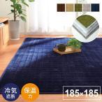 ラグ カーペット ラグマット 洗える 2畳 イブレ 185×185cm 保温 蓄熱 ホットカーペットカバー フランネル おしゃれ こたつ敷布団 床暖房対応