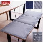 フリーシートクッション レオン 約43×120cm デニム生地 薄型 ごろ寝クッション ロングシートクッション 長座布団 カジュアル おしゃれ 日本製 KAIHARA