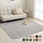 カーペット 2畳 「WSセリゼ」 約185×185cm ホットカーペットカバー 2畳用 抗菌 防臭 シンプル フランネル ラグ カーペット 正方形 床暖房対応(tm)