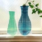 Yahoo!ihanadesignギフトにもオススメです。D-BROS フラワーベース / 手書き グリッド  (2サイズ2枚入り) 花瓶 ネコポス便(378円)利用可 北欧スタイル