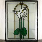本格手作り高級ステンドグラス ステンド グラス ガラス三層デザインパネルsgsm404