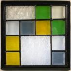 本格手作り高級ステンドグラス ステンド グラス ガラス三層デザインパネルsgsq213