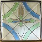 本格手作り高級ステンドグラス ステンド グラス ガラス三層デザインパネルsgsq427