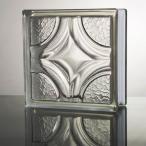 ガラスブロック 国際基準サイズ 世界で有名なブランド品 厚み80mmクリア色菱形パターンgb0480の画像