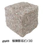 ピンコロ石割肌敷石ガーデニング庭桜御影石材ピンコロgtp03