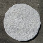 敷石ガーデニング庭白御影石ノミ仕上げ石材ステップストーン飛び石丸板gtsn04
